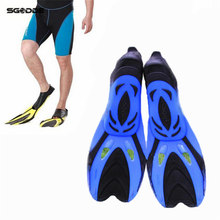 High Flexibility Rubber Swimming Fins Submersible Flippers Outdoor Sports Comfortable Diving Fins Shoes for Swimming Shoes(China)