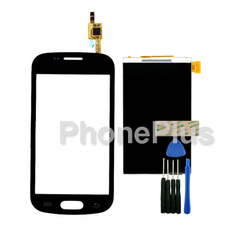 Touch Screen Glass Digitizer+LCD Screen Display Screen Adhesive Replacement Repair Part For Samsung Galaxy Fresh S7390 S7392<br><br>Aliexpress