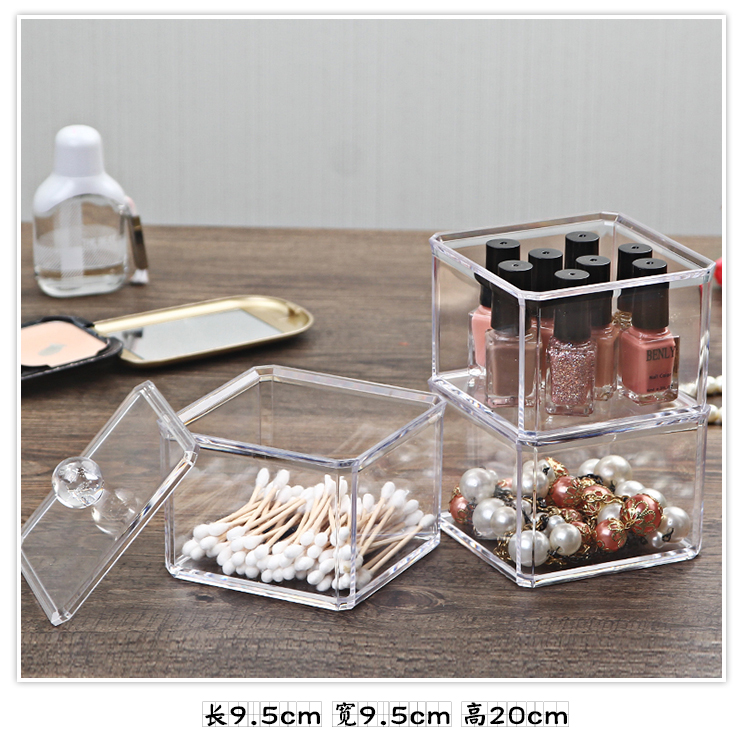 Organizador Hot Sale 2017 Acrylic Makeup Organizer Rangement Maquillage Crystal of Cosmetics Included In The of Home Storage (24)