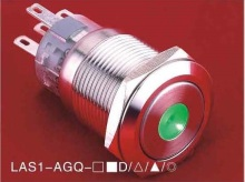 Dot illuminated Pushbutton LAS1-AGQ-22ZD/G/6V/S