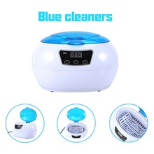 Blue Color 220V 600ml Digital Ultrasonic Tank Cleaner Jewelry Eyeglass CD Cleaner Cleaning 42KHz Sterilize Cleaning Machine(China)