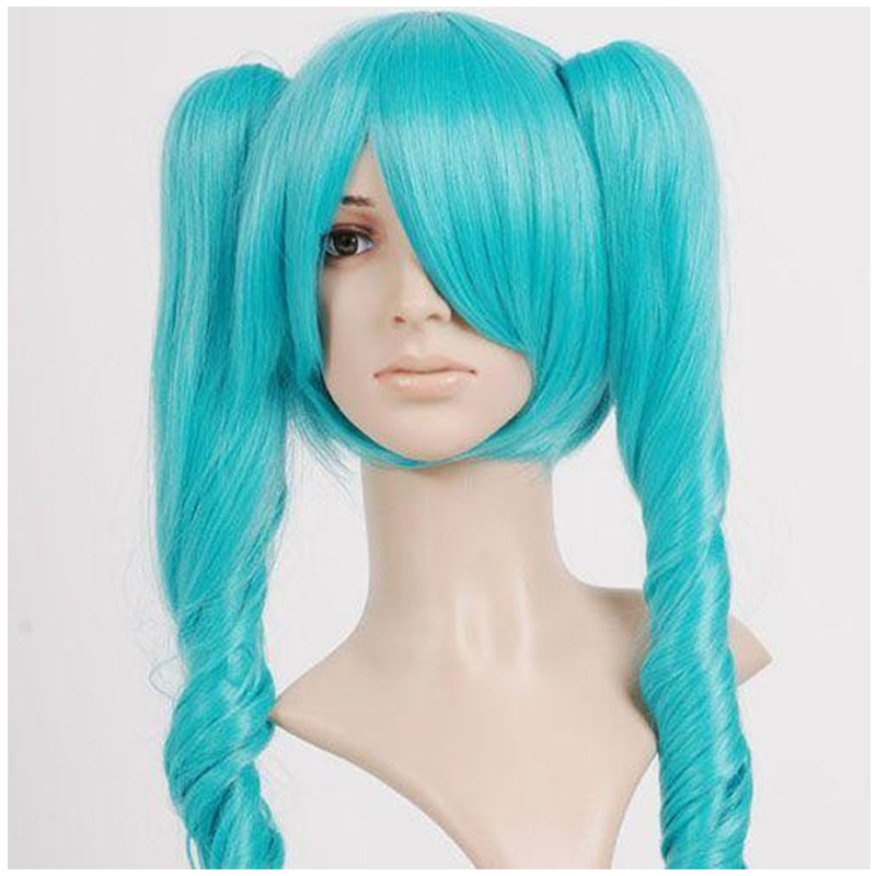 26 Inches Super  Discount  Long Green Troll Wig Vocaloid Hatsune Miku Anime Cosplay Wigs<br><br>Aliexpress