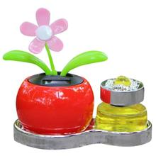 2017 Top sale New Fashion Solar Powered Dancing Flower Swinging Animated Dancer Toy Car Decoration Dropshipping(China)