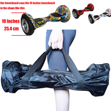 "Portable 10"" Hoverboard Bag Case 10 Inch 2 Wheels Smart Self-Balancing Scooter Hand Carrying Skateboard Bag with Charger Pocket"