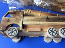 1 Pc Children wooden car model with Missile toys / Kids wood Military weapon die cast toys boy's love toy, free shipping