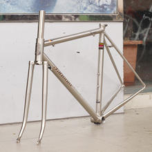 TSUNAMI 520 with 4130 CR-MO Steel Road Bike Frame Fork 700C Classic Frameset Brush Silver Color Venus(China)