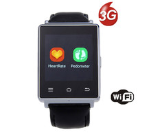 D6 Smartwatch 1GB RAM 8GB ROM 3G WIFI Bluetooth Android Smart Watch Phone With Quad Core CPU With GPS HeartRate Monitor FM Radio(China)