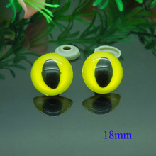 18mm Yellow Safety Eyes/Plastic Cat Doll eyes With Washer Handmade Accessories For Bear Doll Animal Puppet Making - 50pcs