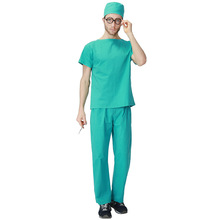 New Arrival Doctor Scrubs Costume Halloween Cosplay Clothes Male Doctor Night Club DS Uniform High Quality B20010HL17742