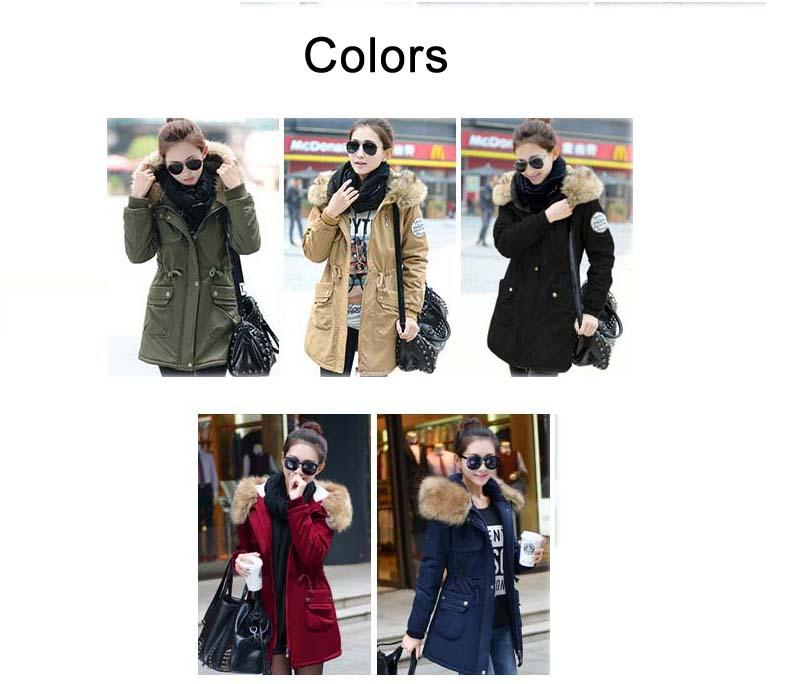 معطف السيدات متوسطة الطويلة 5