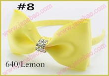 "free shipping 50pcs  Boutique Good Woven Headband 5"" Bowknot Hair Bow Clip"
