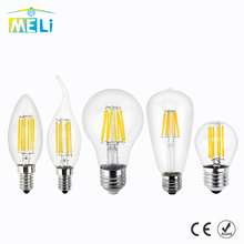 Antique LED Edison Lamp Bulb E27 E14 Retro LED Glass Lamp Light 220V Vintage LED Filament Light 4W 8W 12W 16W Candle Light Lamp