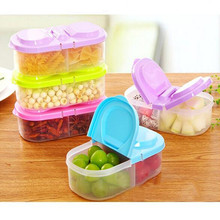 Hot Kitchen Food Grains Sealed Cans With A Cover On It Multi-functional Kitchen Refrigerator Plastic Storage Boxes Organizer