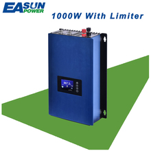 EASUN POWER 1000W Grid Tie Inverter MPPT Solar Power inverter With Limiter DC 22-65V/45-90V AC 100V 110V 120V 220V 230V 240V(China)