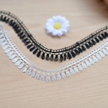Soluble lace embroidery lace tassels DIY clothing accessories Lace Necklace 1.9cm wide(China)