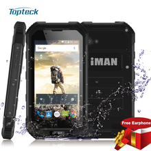 "iMAN X5 IP67 Waterproof Dustproof 3G MTK6580 Quad Core 4.5"" Cellphone 1GB+8GB 5MP 3000mAh FM WiFi GPS BT Flashlight Mobile Phone"