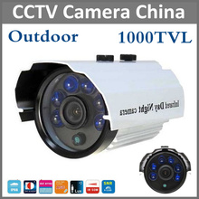 "New Hot 1/3"" SONY CCD HD 1000TVL Waterproof Outdoor Security Camera IR 50 meter 6pcs Leds CCTV Camera Free Shipping(China)"