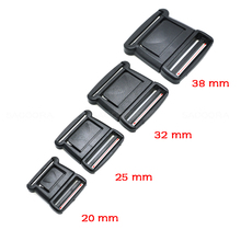 20 25 32 38 mm Plasit Center Release Buckle Black for Outdoor Sports Bags Students Bags Luggage buckle travel buckle accessories(China)