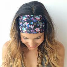 1 pcs Women Lady Wide Bohemia Headband Bandanas Print Floral Flower Hairband Head Wraps Hair Band Accessories(China)