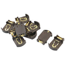 Gold plated SMD CR2032 CR2025 Coin Button Cell Lithium Battery Case Holder Box Base Socket 300pcs/lot