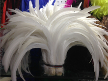 40-45cm/16-18inch pure white Rooster tail feather For Costume&Mask Coque Rooster Tail Feathers 500pcs/lot P181(China)