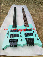 free shipping new Big John double neck headless electric bass guitar with rosewood fingerboard  SN-1