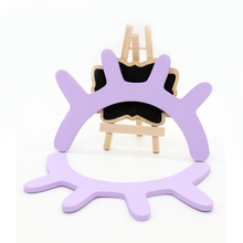 new 2pcs Living Kids Room Decoration Cartoo 3D Wooden Eyelash Closed Wall Sticker DIY Baby Bedroom Christmas Home Decoration