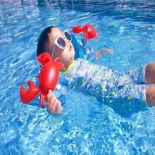 One Pair PVC Baby Swimming Arm Ring Crab Flamingo Children Protable Inflatable Aid Bands Arm Swimming Pool Float Ring