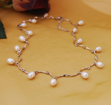 Natural freshwater pearl short chain necklace Water droplets form all over the sky star series Female fashion accessories