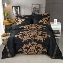 Brief Comforter Bedding Sets Queen Size Black/Red Printing blanket Quilt 228x228cm 3pcs Bed Set bedspread