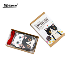 100pcs/lot Creative Cute Cat Card Set Bookmark Paper Gift Stationery Film Bookmark Book Clip Office Accessories School Supplies(China)