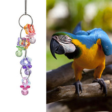 Pet Bird Toy Acrylic and Metal Material Toys Mouse Hamster Parrot Hanging Ladder Bridge Cage swing pet drop Toy Accessories(China)