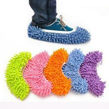 5 Colors Dust Cleaner Slippers House Bathroom Floor Multifunctional Cleaning Mop Cleaner Slipper Lazy Shoes Cover Microfiber(China)