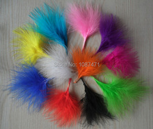 200pcs/lot 7-10cm Mix dyed color natural real turkey decorative feathers plumes jewelry accessories making bulk sale fly tying(China)