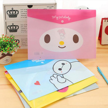 8 Styles Cute Cartoon A4 File Bag Document Bag File Folder Stationery Filing Production Kids Gift Prize School Office Supply