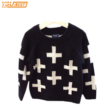 2017 Fashion Girl Winter Sweater Boys Cartoon Cross Sweater Boys And Girls Long Sleeve Pullovers Sweater Baby Boy Cardigan