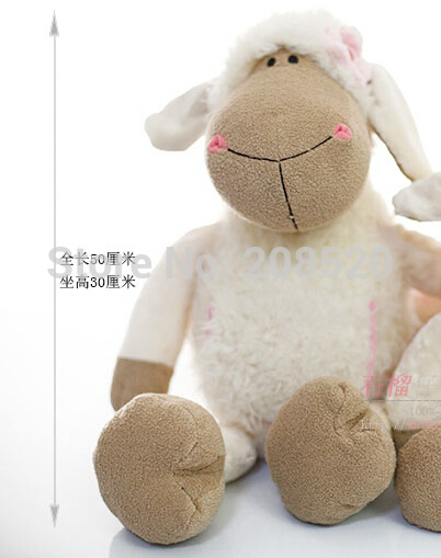 50cm NICI sheep creative plush toy NICI sheep doll for Children birthday gift/Christmas gift 1PC<br><br>Aliexpress