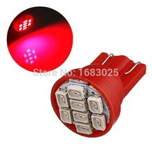 Big Promotion 10pcs/lot White Red Blue T10 194 168 W5W 8 SMD 3020 LED Car Auto Wedge Side Lights Lamp Bulb(China)