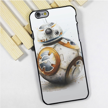 Fit for iPhone 4 4s 5 5s 5c se 6 6s 7 plus ipod touch 4 5 6 back skins phone case cover BB8 Star Wars Painted Art Amazing Droid