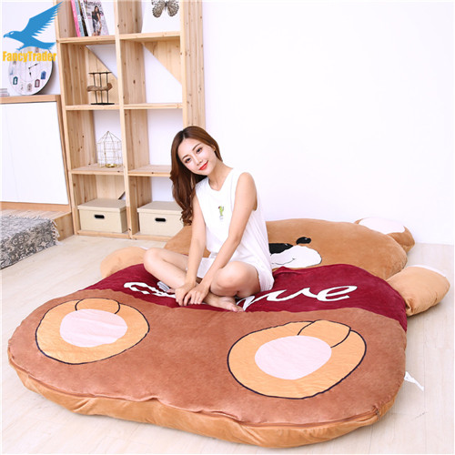 Fancytrader 2018 Giant Plush Stuffed Cartoon Love Bear Sofa Bed Sleeping Bed with Padding 2 Sizes (6)