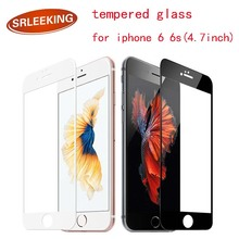SRLEEKING film on the for iPhone 6 Complete Covering Anti-Explosion Tempered Glass Screen Protector for iphone 6S (4.7inch)