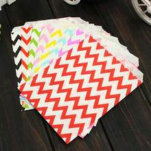 25 Pcs Candy Bag Stripe Treat Bags Wedding Birthday Party Favors Gifts Paper Bags Home Kitchen Accessories Hot Sale(China)