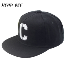 [HEAD BEE] 2017 Fashion Baseball Cap Children Cotton Letter Embroidery Snapback Cap Hip Hop Hat Kid for Boy and Girl(China)