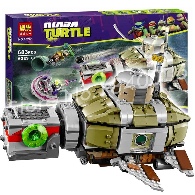 683pcs New Bela 10265 Teenage Turtle Sub Undersea Chase Model Building Blocks boys toys Compatible With Lego<br><br>Aliexpress