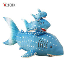 30/40cm High Quality stuffed Nanoparticle doll Fish Animals doll Dolphin Plush Toys cloth doll birthday gift for Children's day(China)