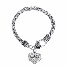 Skyrim Cheerleading gifts heart crystal Cheer bracelet
