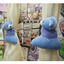 Cute Bear Curtain Holder Embrasse Rideau Hooks Fastener Toys Window Buckle Clamp Curtain Accessories Tiebacks For Curtains