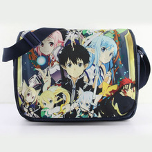Anime Sword Art Online Messenger Bag School Fashion Students Shoulder Bag #608 Leisure Crossbady Bag Gift For Boys Girls