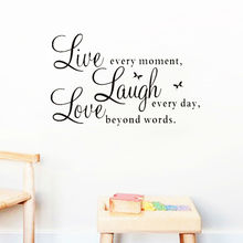 live laugh love quotes wall decals zooyoo1002 home decorations adesivo de paredes removable diy wall stickers(China)