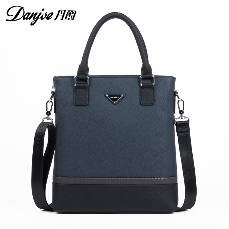 Danjue Famous Brand Genuine Cow Leather Men Crossbody bag Casual Style Zipper Solid Shoulder Bag<br><br>Aliexpress